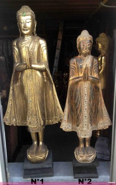 a vendre statue de bouddha debout dor e h 114 ou 166 cm. Black Bedroom Furniture Sets. Home Design Ideas
