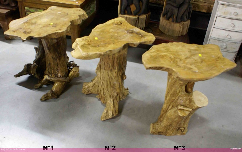 a vendre table basse en bois et racine de teck h 44. Black Bedroom Furniture Sets. Home Design Ideas