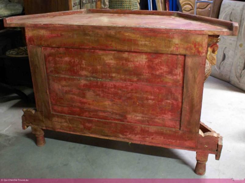 Meuble ancien en bois peint h 80 cm vendre petites for Annonce meuble ancien
